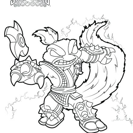 440x440 Coloring Pages Of Skylanders Trap Team Coloring Pages Free