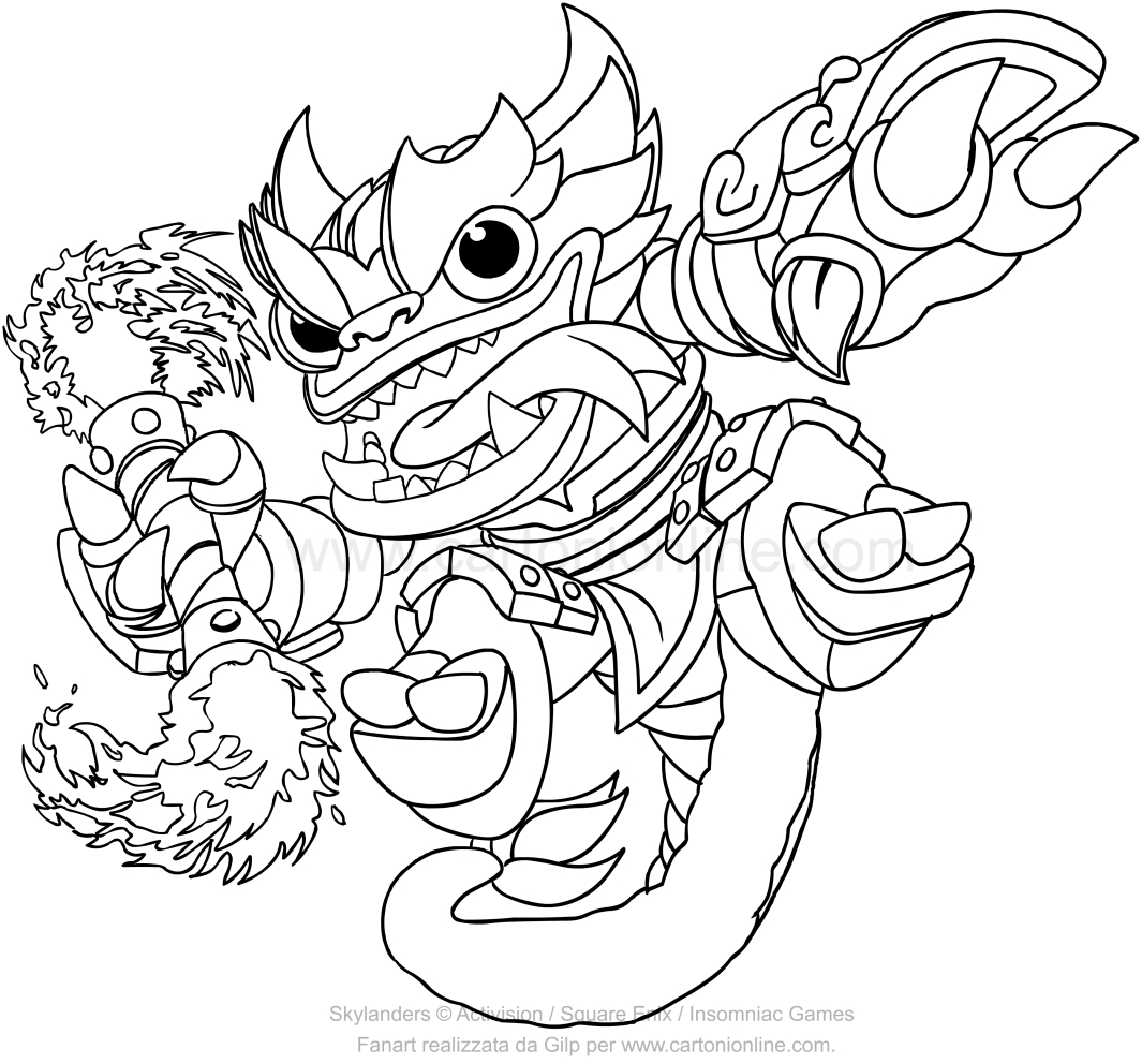 1065x992 Skylanders Swap Force Fire Kraken Coloring Pages
