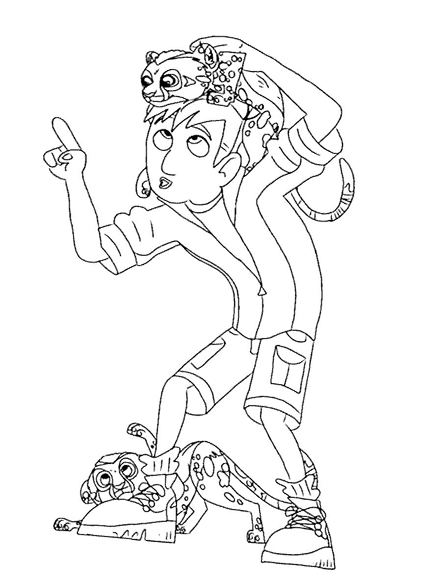 Kratt Brothers Coloring Pages