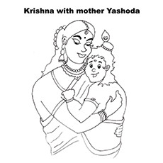 Krishna Coloring Pages