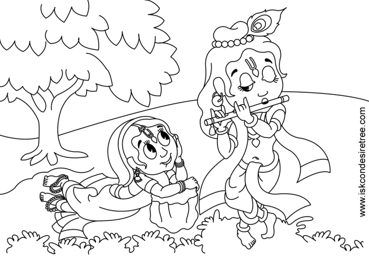 737x521 Krishna Printable Coloring Pages