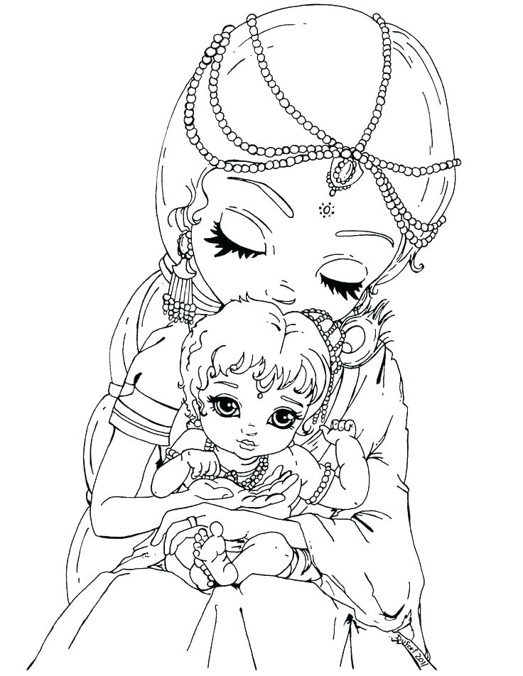 736x952 Little Krishna Coloring Pages Coloring Pages Romance Between