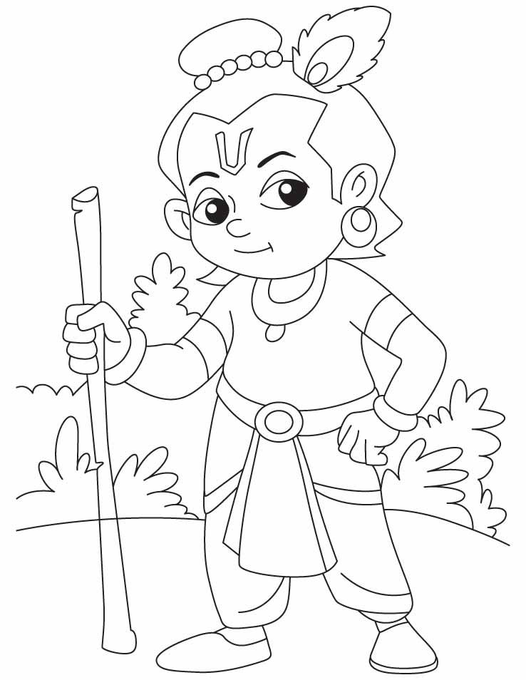 738x954 Lord Krishna Coloring Pages Projects To Try Lord