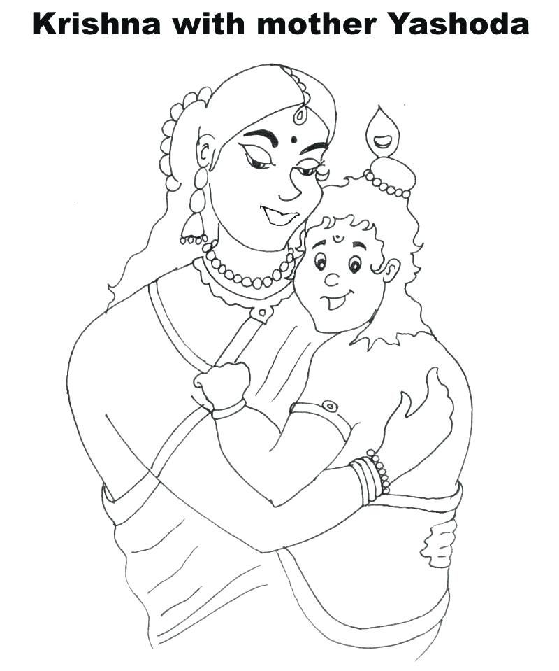 800x959 Lord Krishna Coloring Pages Free Lord Krishna Coloring Pages