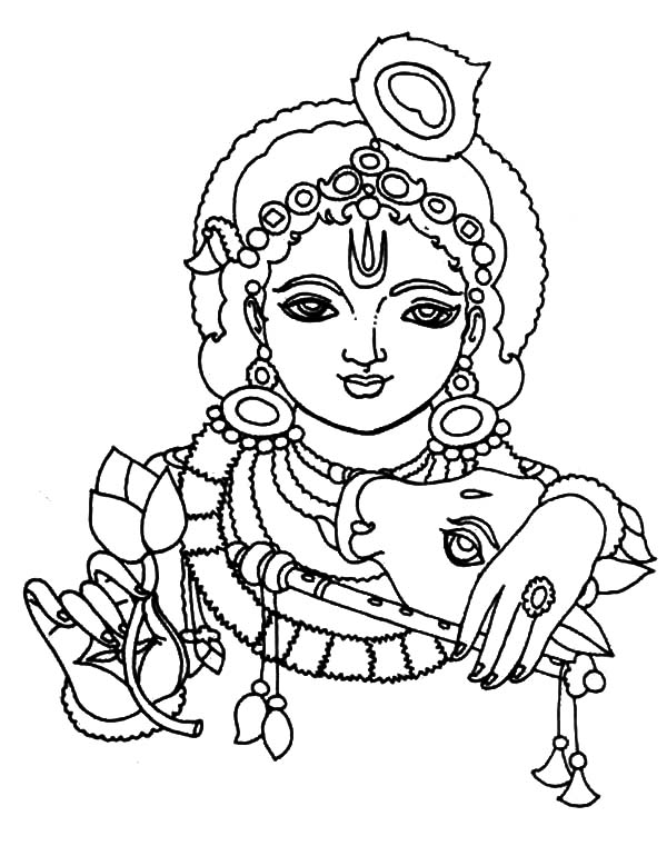 600x761 Picture Of Krishna Coloring Pages Picture Of Krishna Coloring