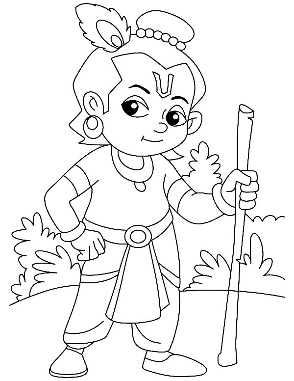 600x776 Supreme Personality Of Godhead Krishna Coloring Pages