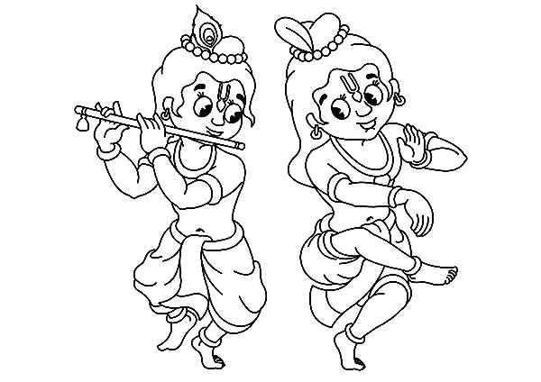 600x424 Coloring Pages Of Krishna Professional