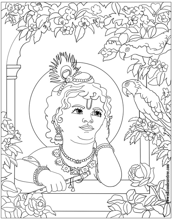 570x725 Baby Krishna Coloring Pages