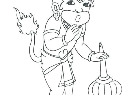 440x330 Krishna Coloring Pages