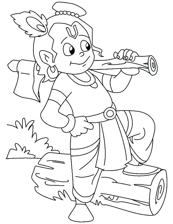 600x776 Krishna Coloring Pictures