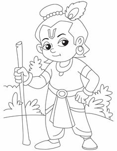 236x305 Baby Krishna The Butter Thief Coloring Pages Download Free Baby