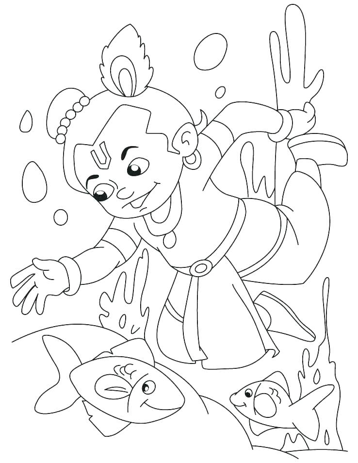 738x954 Coloring Pages Of Krishna Coloring Pages Lord Krishna