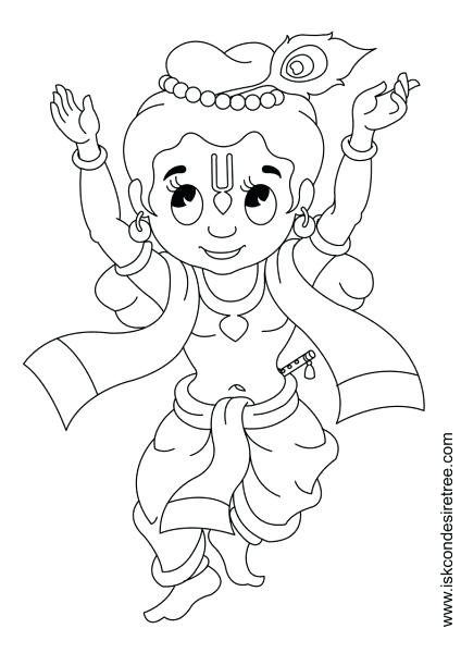 424x600 Coloring Pages Of Krishna Or Coloring Page Image Coloring Pages
