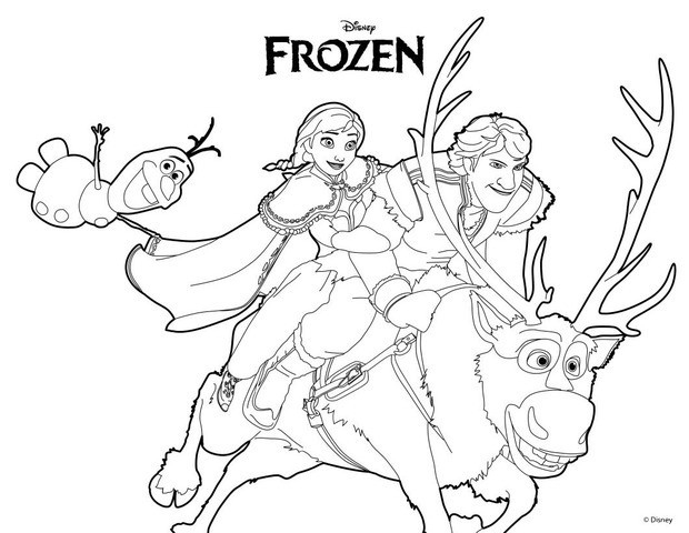 620x480 Frozen Coloring Pages Kristoff Ana Olaf Kristoff Coloring Pages