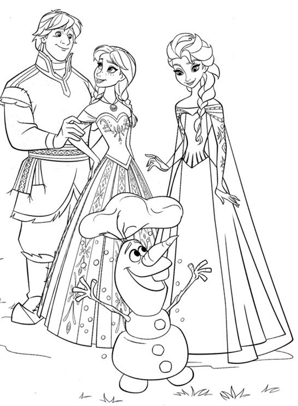1034x1408 Frozen Coloring Pages To Print