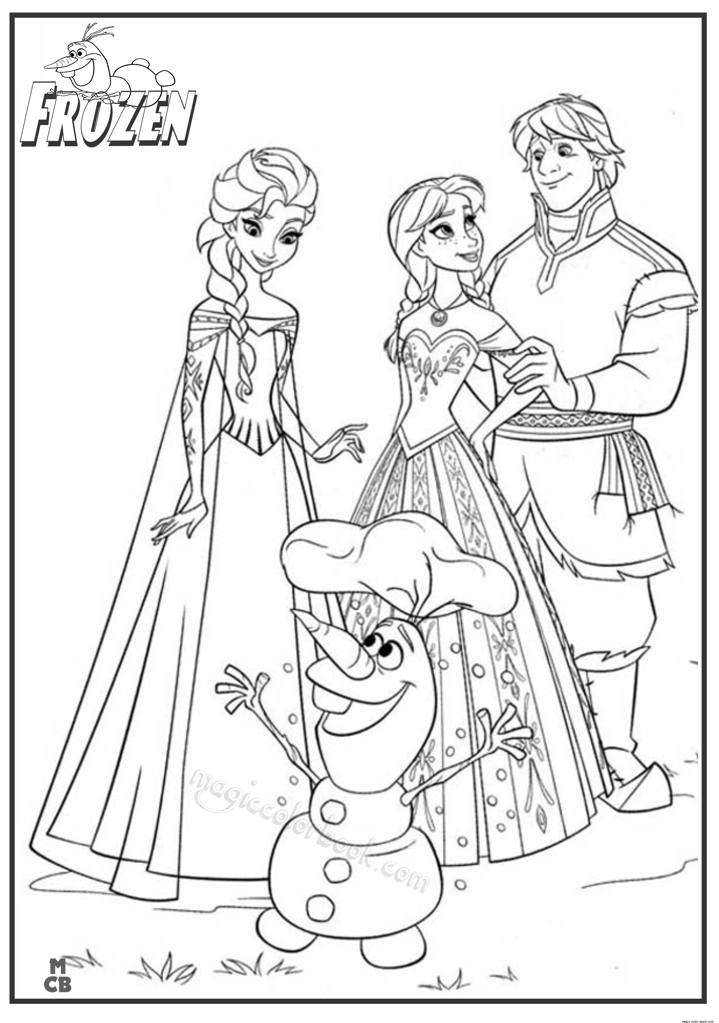 2449x3484 Frozen Online Coloring Pages Free For Kids