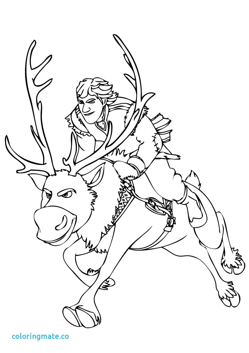 848x1200 Kristoff From Frozen Coloring Page Sven