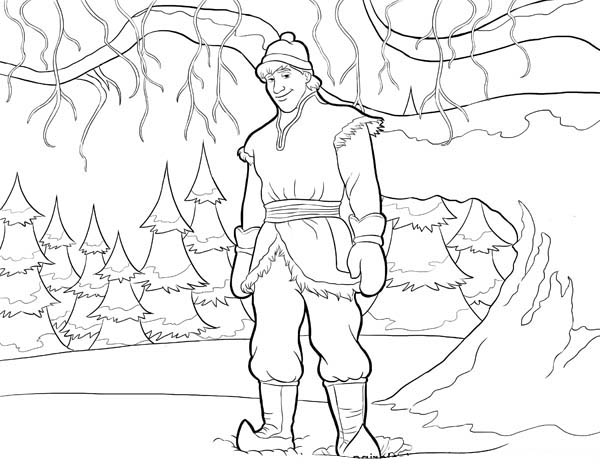 600x464 Kristoff From Disney Movie Frozen Coloring Page