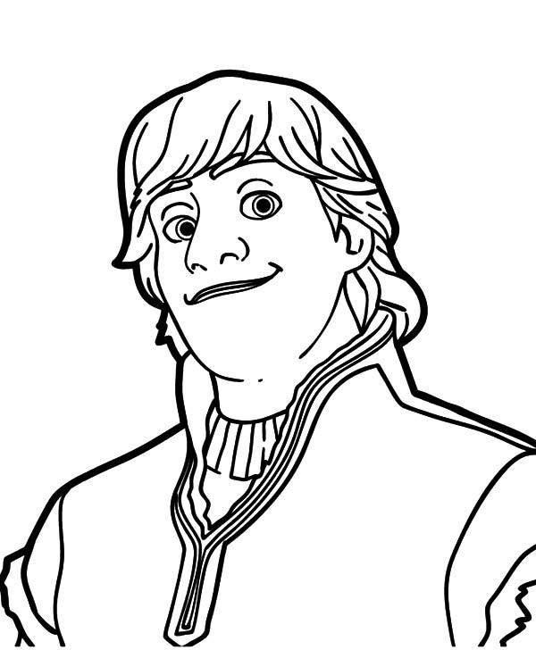 600x728 Kristoff Frozen Portrait Coloring Page