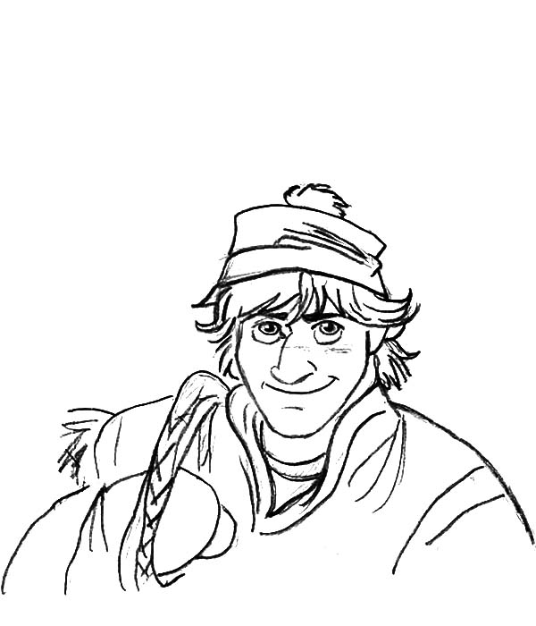 600x700 Disney Frozen Character Kristoff Coloring Pages