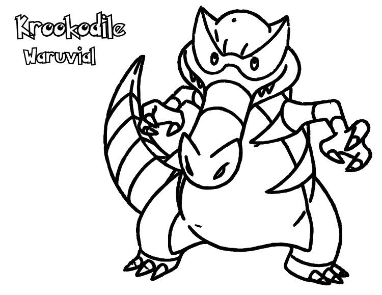 750x579 Krookodile Waruvial Coloring Page