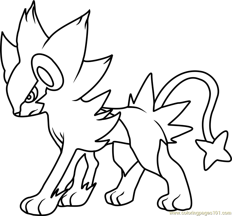 800x746 Luxray Pokemon Coloring Page