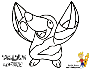 304x235 Powerhouse Pokemon Coloring Pages To Print Yescoloring Free
