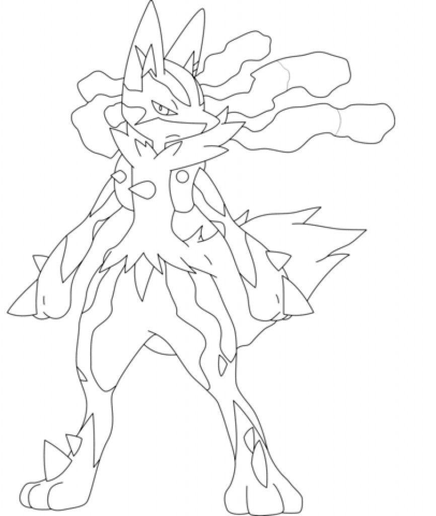 866x1024 Attractive Lucario Coloring Pages Embellishment
