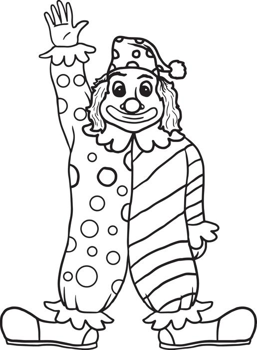 515x700 Clown Coloring Pages For Preschoolers