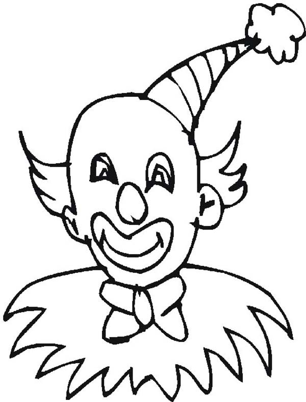 600x788 Clown Wearing Pointy Hat Coloring Page Color Luna