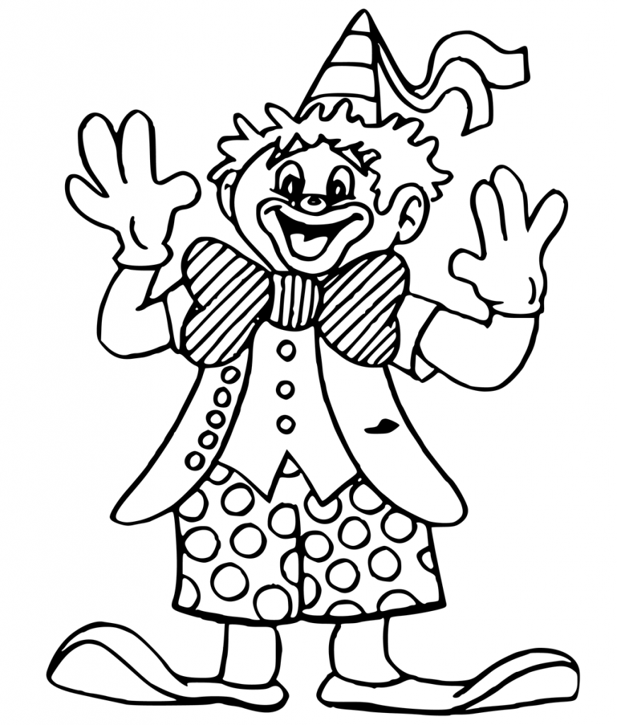 872x1024 Evil Clown Coloring Pages