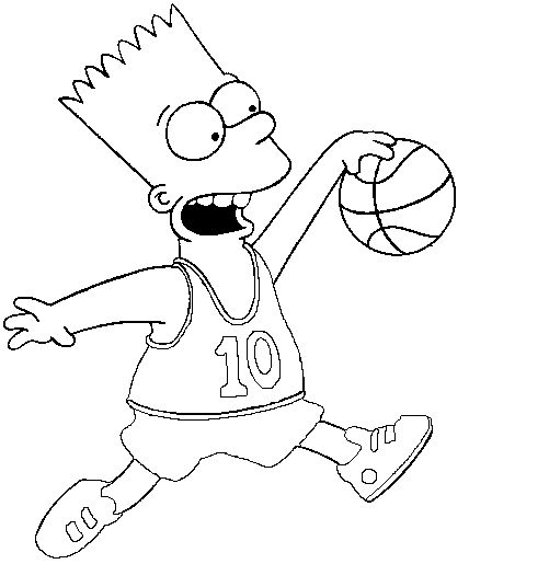 501x515 Best Simpson Images On Colouring Pages, Coloring