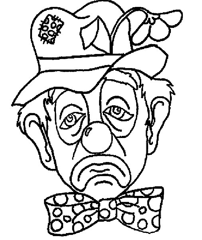 675x800 Printable Clown Coloring Pages
