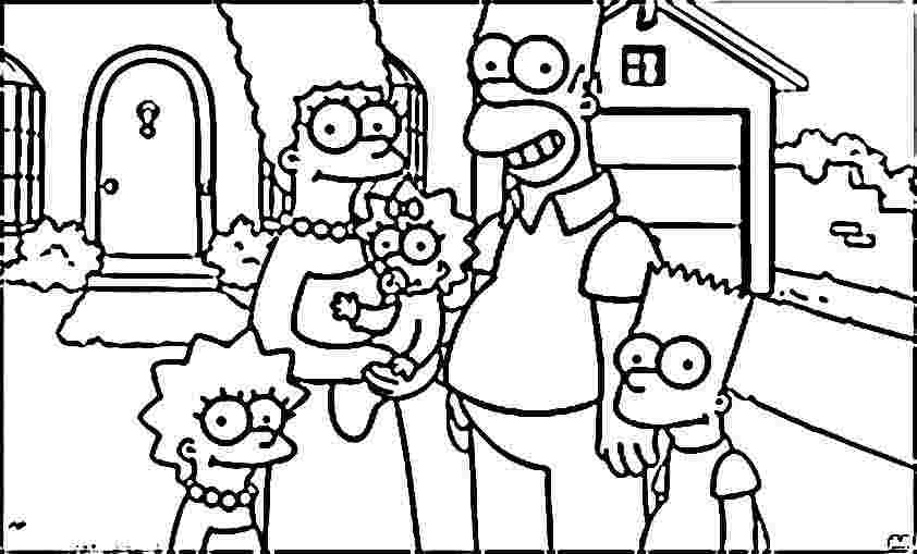 842x509 Simpson Coloring Pages