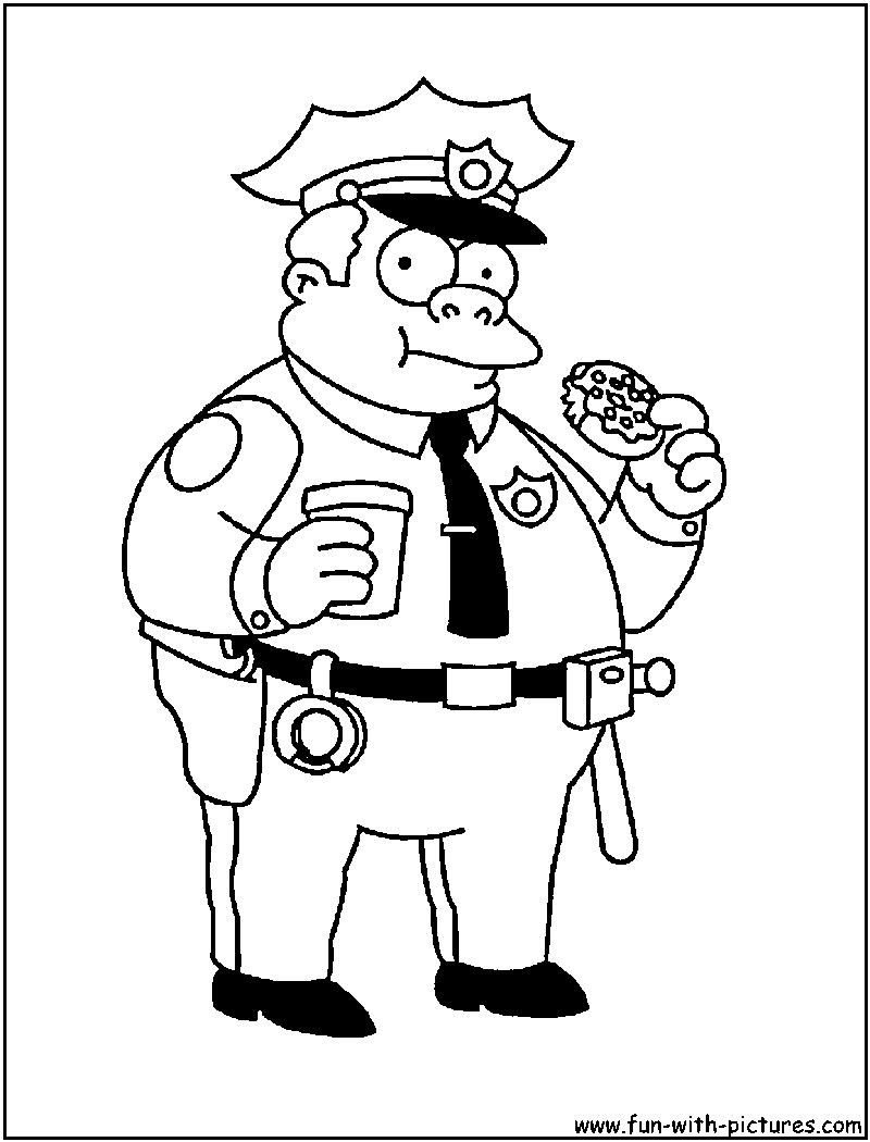 800x1050 Simpsons Coloring Pages
