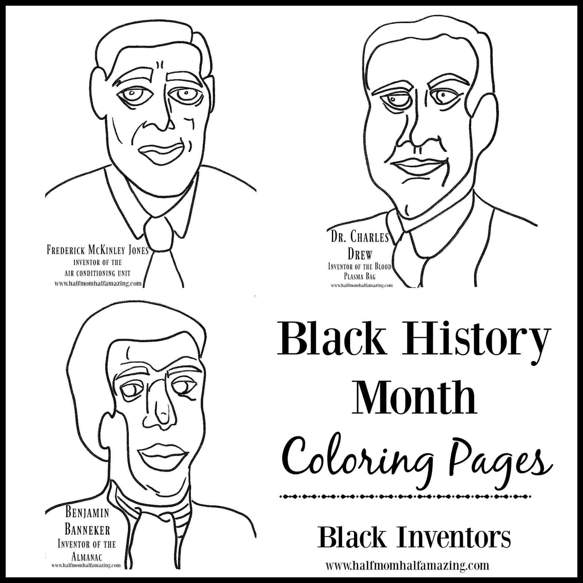 1900x1900 Black Inventors Coloring Pages Web Coloring Pages