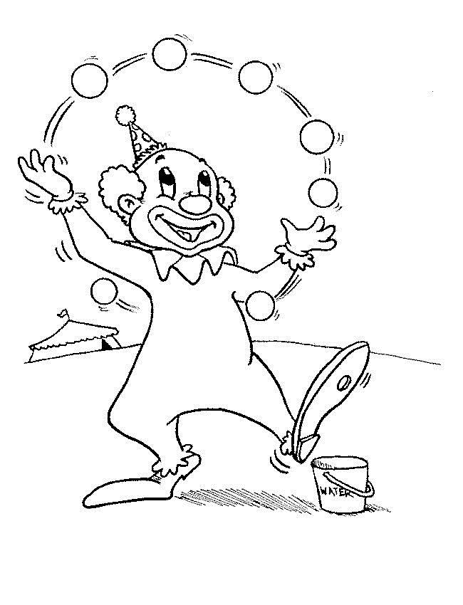 650x850 Clown Coloring Pages