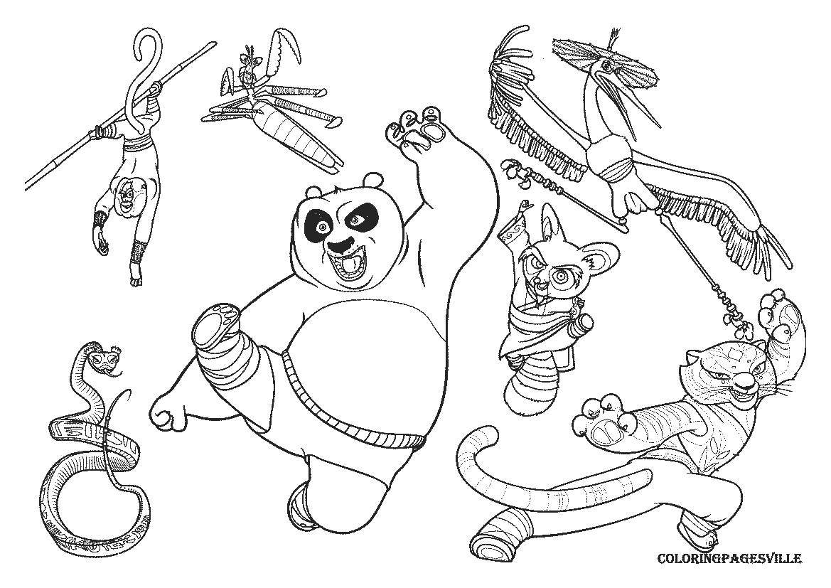 Kung Fu Coloring Pages