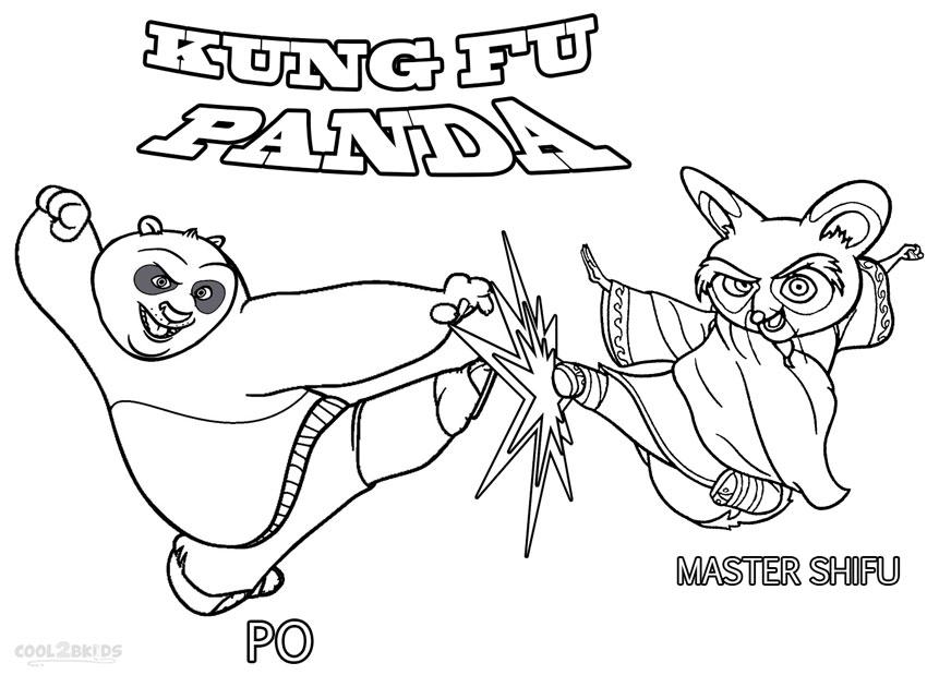 850x630 Kung Fu Panda Po Vs Shifu Coloring Pages Printables