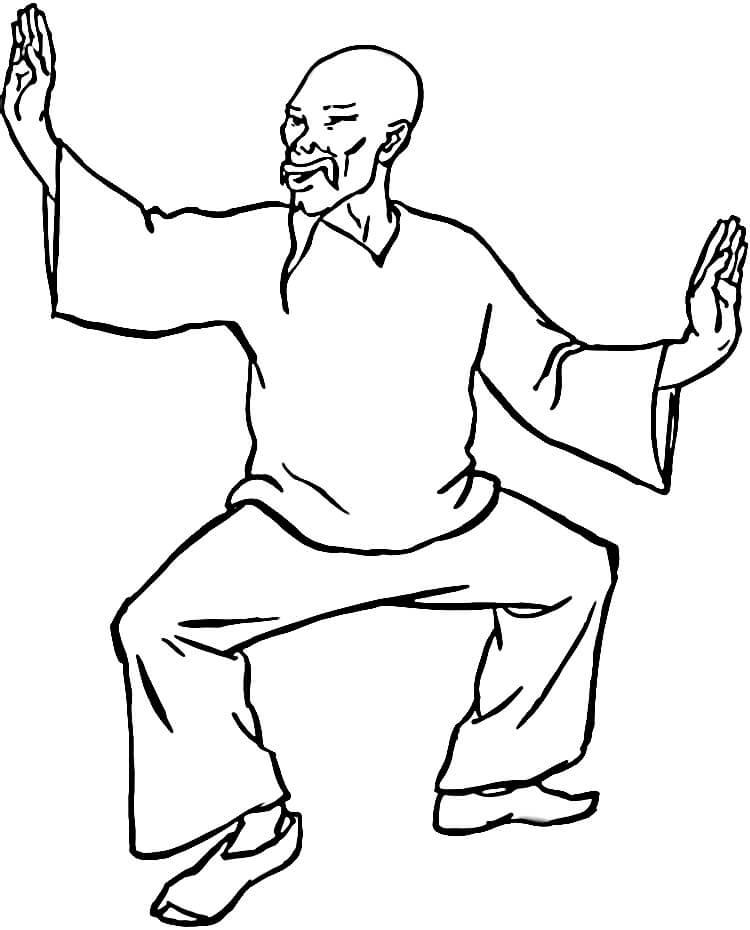 750x930 Kung Fu Chinese Culture Coloring Page