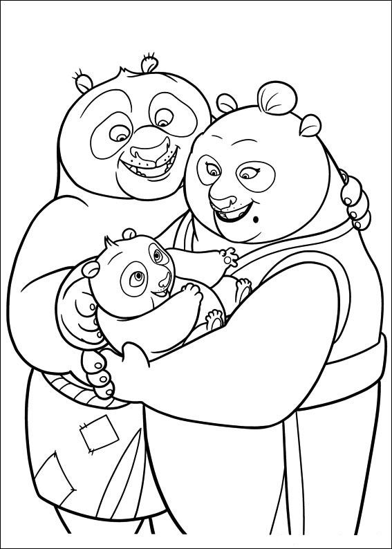 Kung Fu Panda 3 Coloring Pages