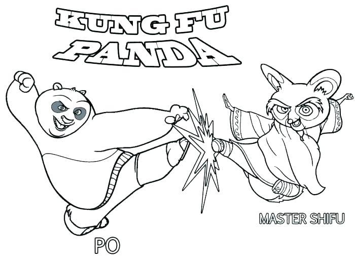700x519 Kung Fu Panda Coloring Pages Coloring Pages Panda Panda Bear