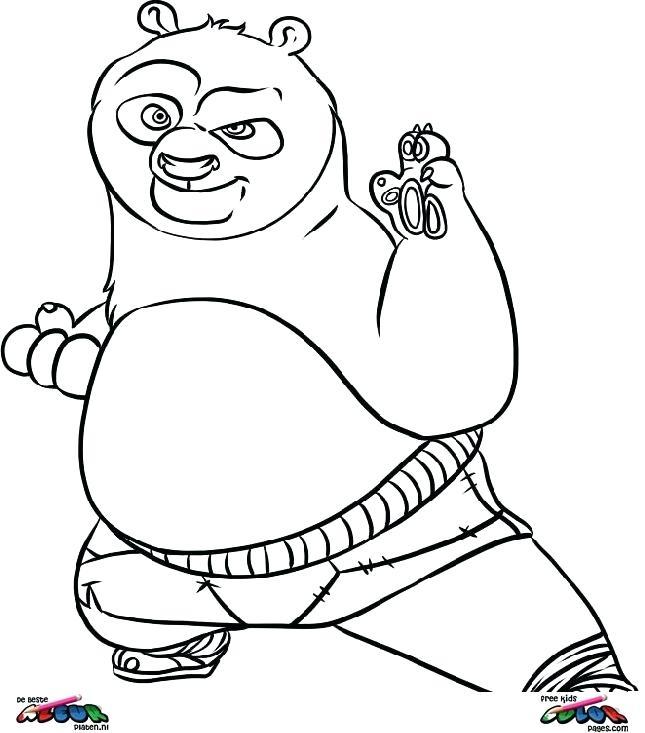 645x733 Panda Coloring Pages Panda Free Images Free Coloring Kung Fu Panda