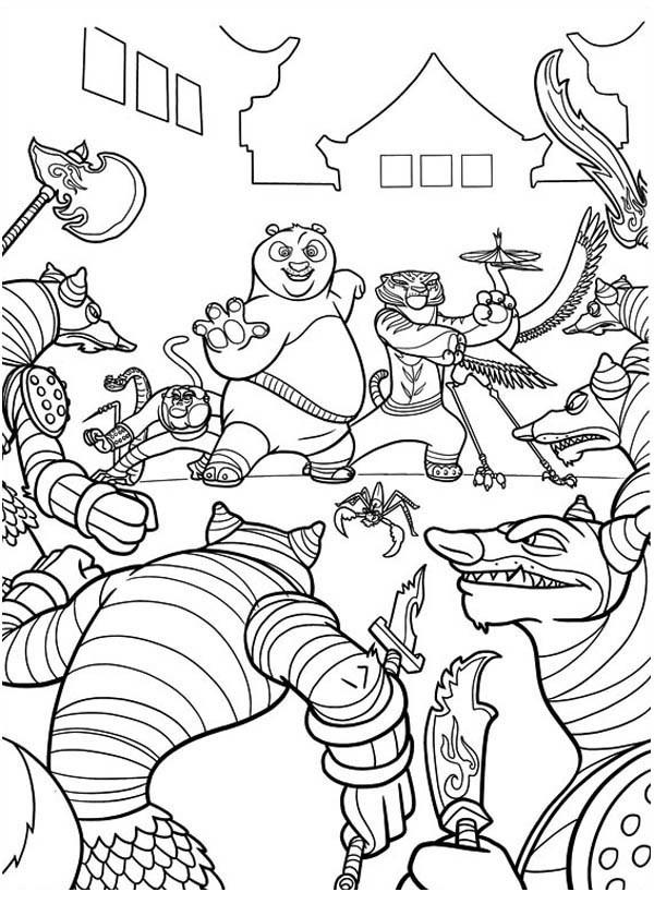 600x840 The Dragon Warrior And The Furious Five Were Out Numbered In Kung