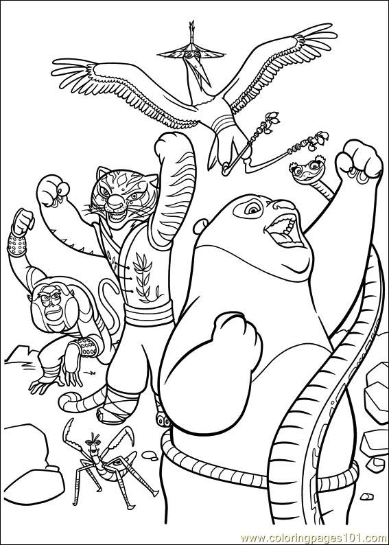 567x794 Kung Fu Panda Coloring Pages Minister Coloring