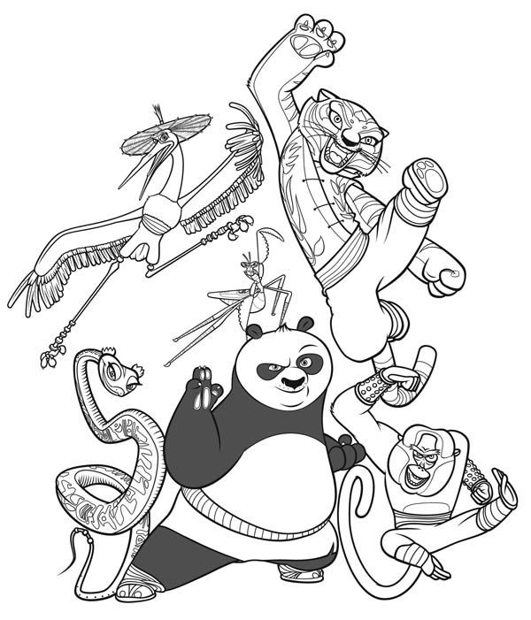 600x701 The Legend Of Kung Fu Panda Coloring Page