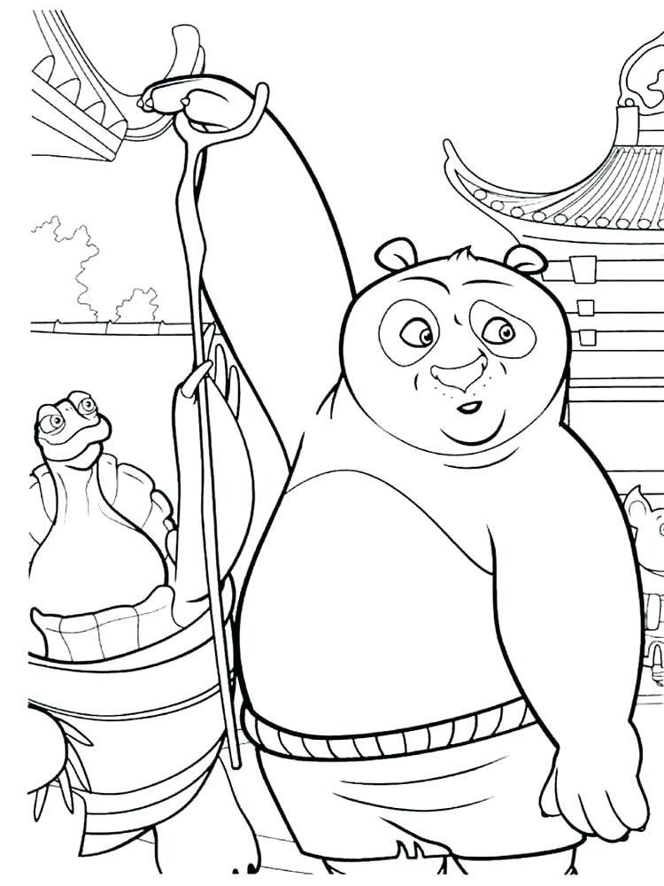 750x1000 Kung Fu Panda Coloring Pictures And Tigress And Monkey From Panda