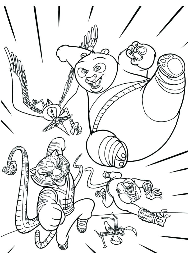 762x1024 Kung Fu Coloring Pages
