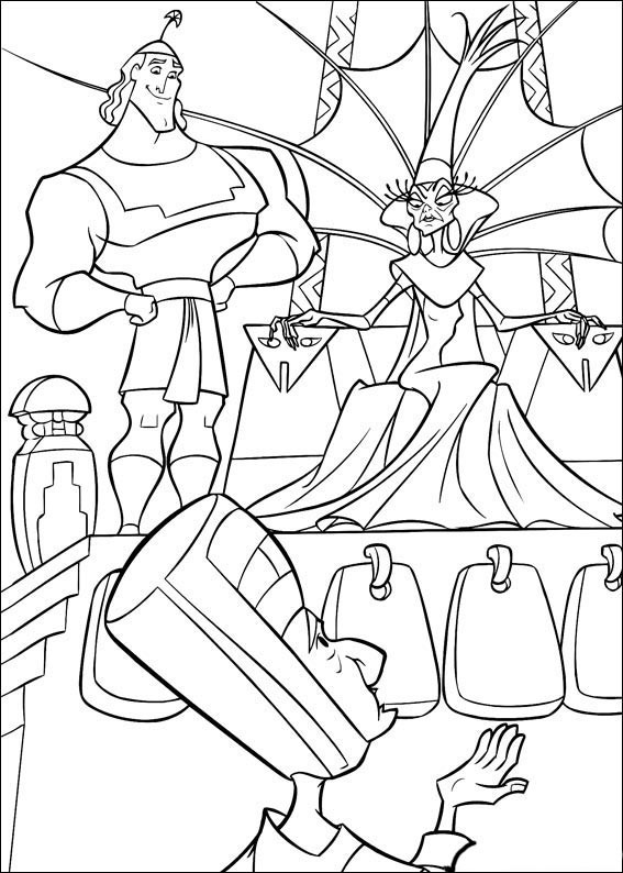 567x794 Kronk's New Groove Printable Coloring Book
