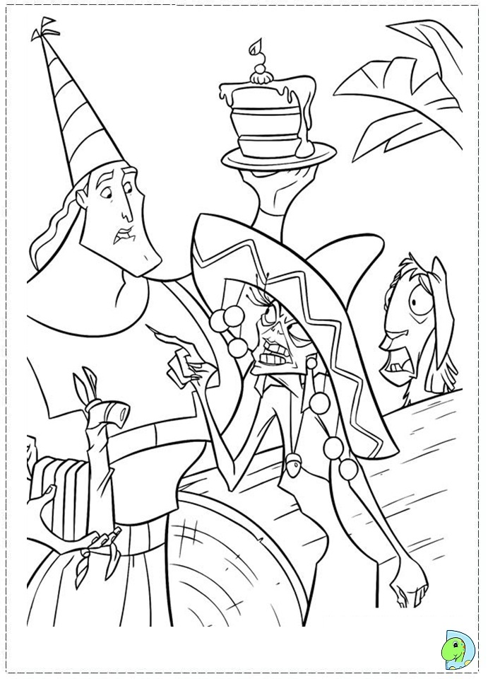 691x960 Kuzco, The Emperor's New Groove Coloring Page